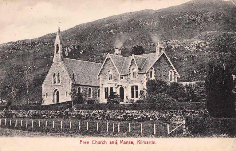 Kilmartin Church circa 1800. The Church burnt down in the 1970's